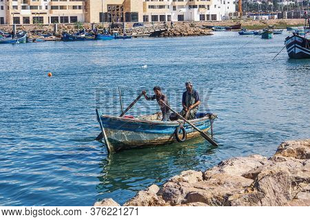 Rabat, Morocco - Oct 13, 2019: View Of The Harbour Of Rabat, Morocco Located In The River Bou Regreg
