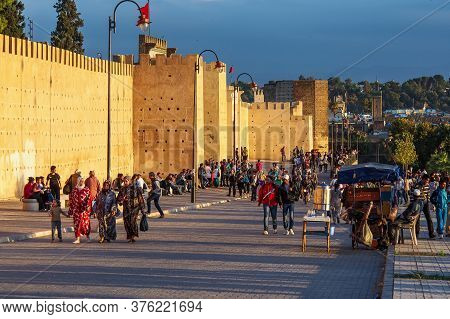 Fes, Morocco - Oct 15, 2019: The Fortress In Fez. Kasbah Cherarda Is A Kasbah In The City Of Fez, Mo