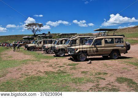 Ngorongoro / Tanzania - 06 Jan 2017: Safari In Kenia And Tanzania, Africa