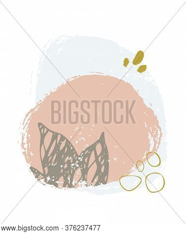 Vector Abstract Hand Drawn Composition For Banner, Poster, Card, Cover, Invitation, Brochure Flyer