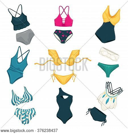Assortment Of Swimming Suits For Females, Fashion And Vogues