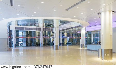 New York - July 30, 2014: Interior Of Madison Square Garden In New York