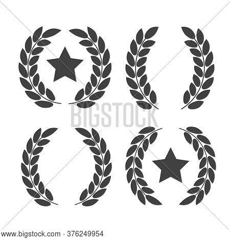 Laurel Wreaths Vector. Award Signs With Laurel Wreath