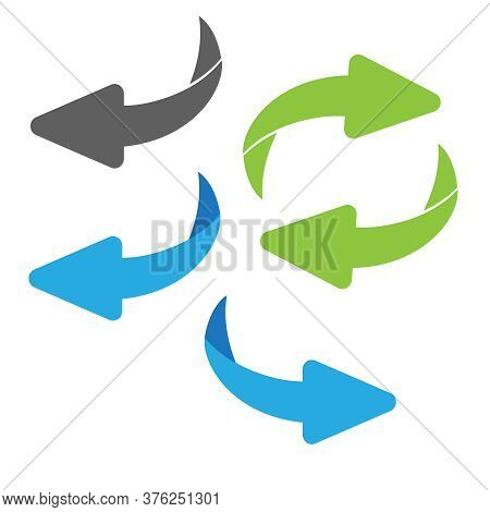 Flip Over Or Turn Arrow. Reverse Sign