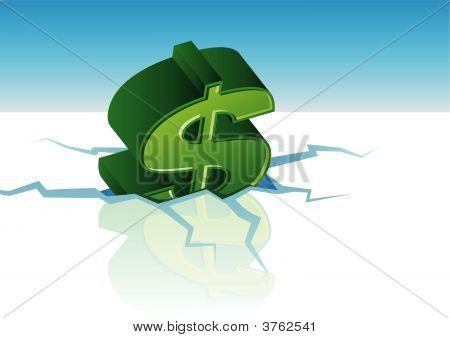 Vector Dollar Crisis
