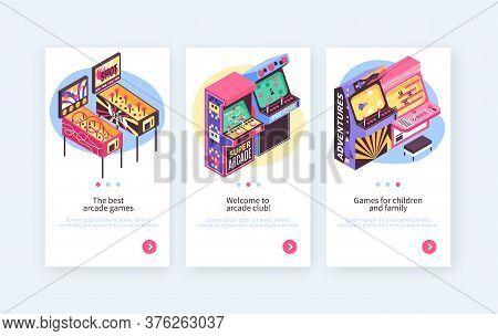 Retro Pinball Video Redemption Arcade Game Machines Children Adult Entertainment 3 Isometric Vertica