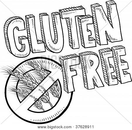Gluten free food label sketch