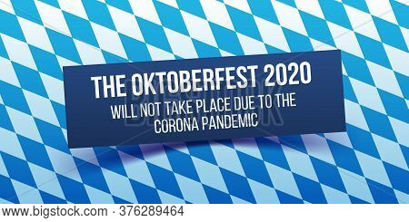 Oktoberfest 2020 Information Banner. Official Statement.