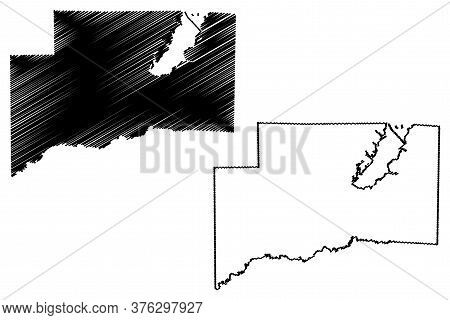 Clinton County, Illinois (u.s. County, United States Of America, Usa, U.s., Us) Map Vector Illustrat