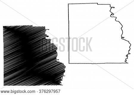 Crawford County, Illinois (u.s. County, United States Of America, Usa, U.s., Us) Map Vector Illustra
