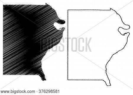 Gallatin County, Illinois (u.s. County, United States Of America, Usa, U.s., Us) Map Vector Illustra