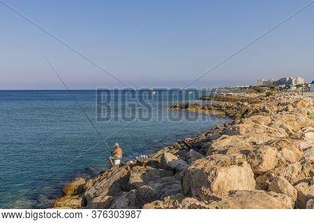August 2019. Paralimni Cyprus.paralimni Beach, Paralimni Cyprus Europe