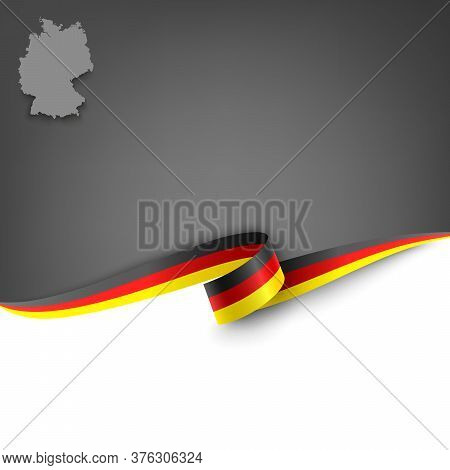 Document With Ribbon And Map Federal Republic Of Germany Template Vector Eps 10