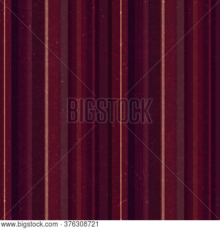 Brown Vertical Stripes Pattern, Seamless Texture Background. Ideal For Printing Onto Fabric And Pape