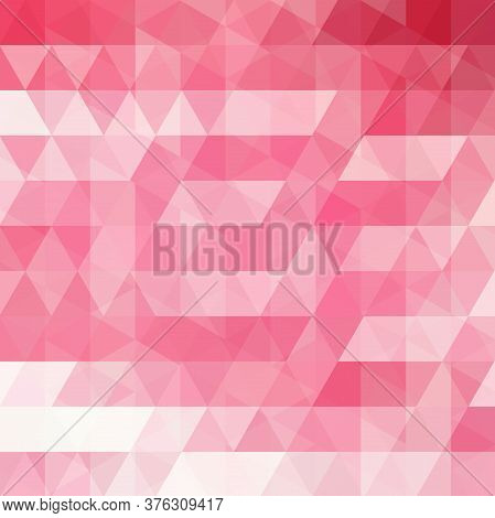 Abstract Vector Background With Pink Triangles. Geometric Vector Illustration. Creative Design Templ