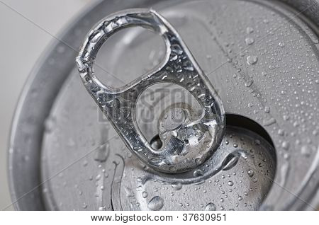 Close-Up Open Aluminum Can