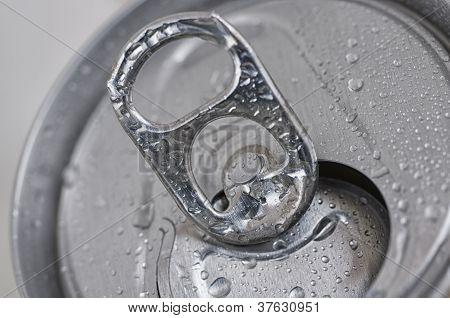 Close-Up Open Aluminum Can