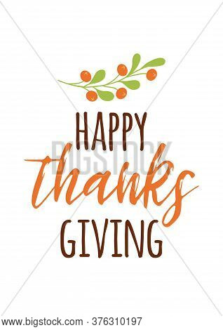 Happy Thanksgiving With A Gratefull Heart Autumn Print Hand Drawn Autumn Cad For Thanksgiving Day Ba