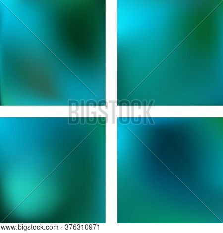 Set With Abstract Blurred Backgrounds. Vector Illustration. Modern Geometrical Backdrop. Abstract Te