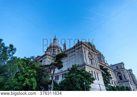 Barcelona, Spain - June 10th, 2014: Mnac - Museu Nacional D\'art De Catalunya (national Art Museum O