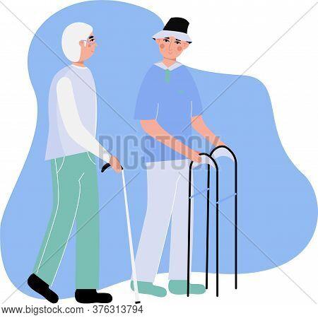 elderly men walking vector photo free trial bigstock bigstock