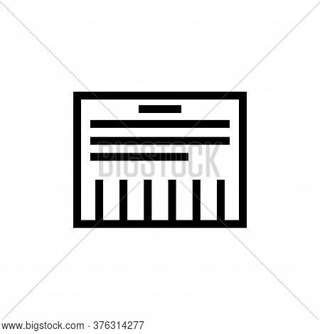 Tear-off Ad, Advertisement Paper Sheet. Flat Vector Icon Illustration. Simple Black Symbol On White