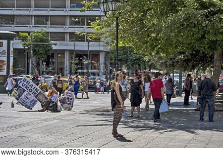 Syntagma Square And  Protest