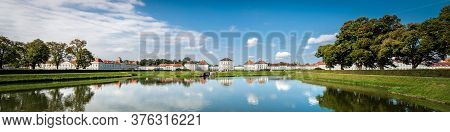Munich, Germany - Sep 8, 2018: Nymphenburg Palace (schloss Nymphenburg - Castle Of The Nymphs) With
