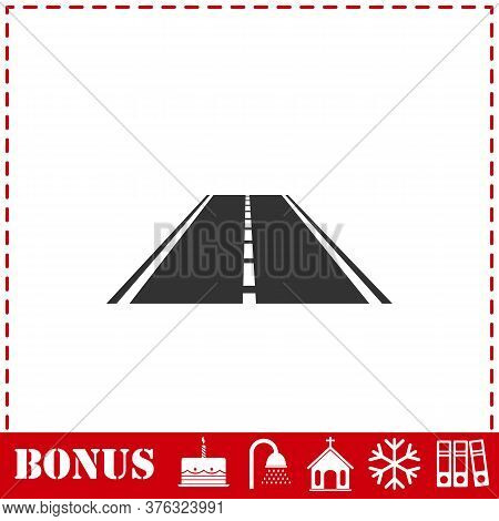 Highway Icon Flat. Simple Vector Symbol And Bonus Icon