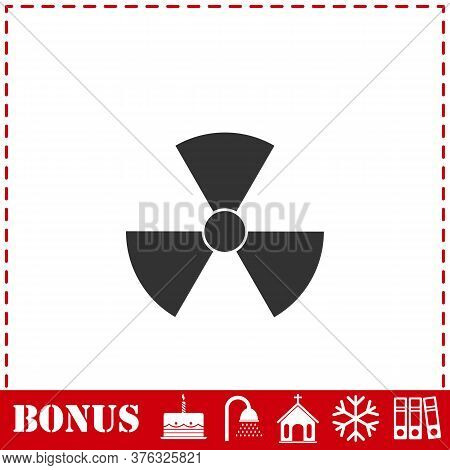 Radiation Icon Flat. Simple Vector Symbol And Bonus Icon