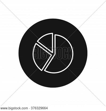 Pie Chart Icon Isolated On White Background. Pie Chart Icon In Trendy Design Style For Web Site And