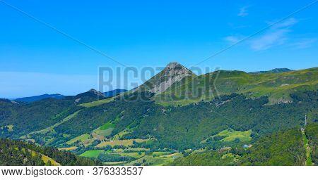 Massif Central, Cantal- Auvergne volcanic- landscape