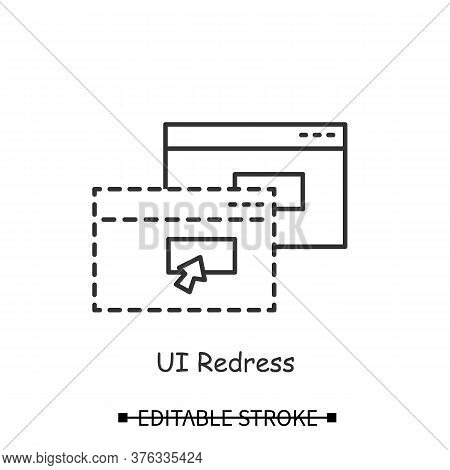 Site Fraud Icon. Personal Data Input Stealing Ui Redress Forms Line Pictogram. Concept Of Cross Site
