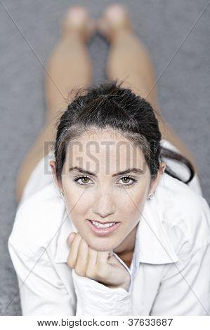 Woman In White Shirt