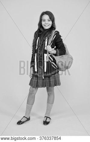 Travel And Study. Learn English Language. Girl School Uniform. English Student. Education And Upbrin