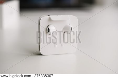Earpods, Headphones From Apple. High Quality Photo
