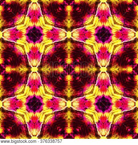 Luxurious Tile Design. Luxurious Lace Image. Elegant Geo Pattern. Pink Seamless  Watercolor Majolica