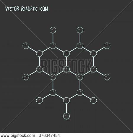 Molecular Lattice Icon Line Element. Vector Illustration Of Molecular Lattice Icon Line Isolated On