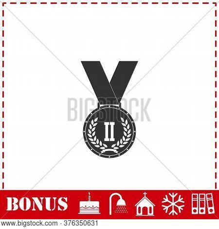 Medal Icon Flat. Simple Vector Symbol And Bonus Icon