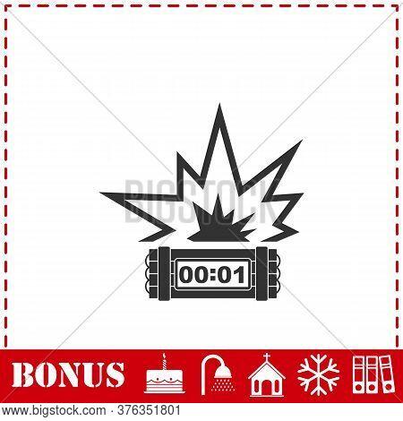 Big Bang Flash Icon Flat. Simple Vector Symbol And Bonus Icon