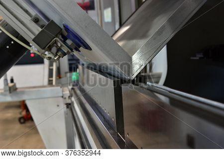 Operator Bending Metal Sheet By Sheet Bending Machine Sheet Bending Machines