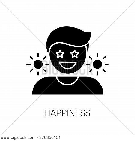 Happiness Black Glyph Icon