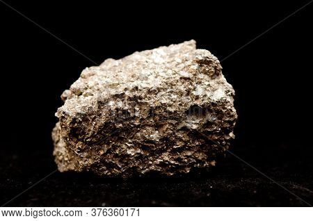 Iron Pyrite Metal Mineral Sample, Also Known As Fool's Gold