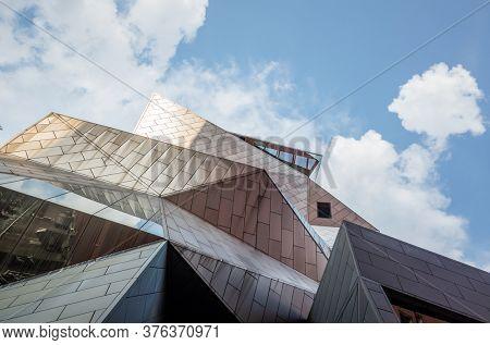 Taipei, Taiwan - August 17th, 2019: contemporary Museum of National Taiwan Normal University in Taipei, Taiwan, Asia