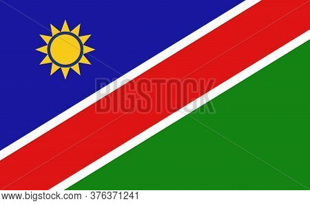 Namibia National Flag In Exact Proportions - Vector