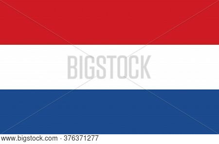 Netherlands National Flag In Exact Proportions - Vector