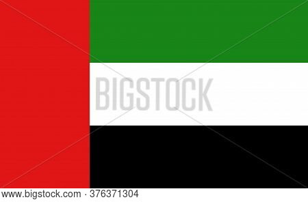 Uae National Flag In Exact Proportions - Vector