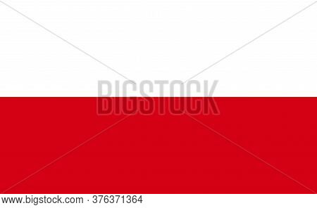 Poland National Flag In Exact Proportions - Vector