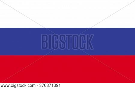 Russia National Flag In Exact Proportions - Vector