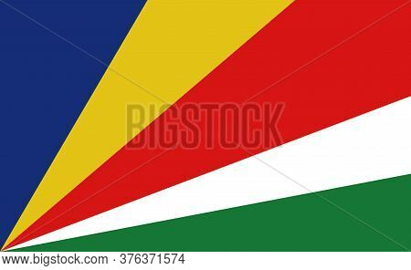Seychelles National Flag In Exact Proportions - Vector